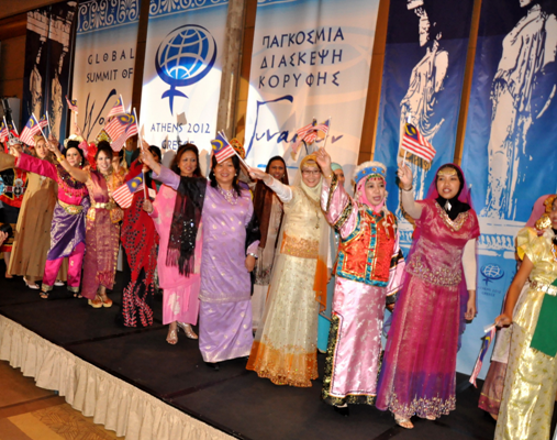 2012 Global Summit of Women Malaysian Delegates